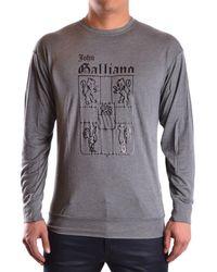 John Galliano - Men's Mcbi130105o Grey Cotton T-shirt - Lyst