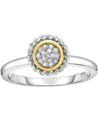 Jewelry Affairs - 18k Gold And Sterling Silver Diamond 0.08ctw Fancy Ring - Lyst