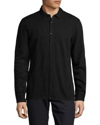 John Varvatos - . Wool-blend Sports Shirt - Lyst