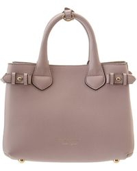 Burberry Dark Tan House Check Canvas  Salisbury  Small Tote in Brown ... 953588d3f8349