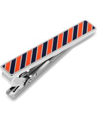 Ox and Bull Trading Co. - Varsity Stripes Navy And Orange Tie Clip - Lyst