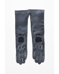 Marni - 11 Nwt Black Deerskin Leather Long Perforated Driving Gloves Sz 7 - Lyst