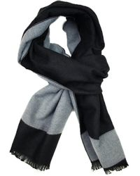Dibi - Solid Black & Grey Trim Scarf - Lyst