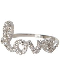 Adornia - Sterling Silver Cursive Love Ring - Lyst