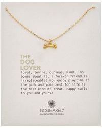 Dogeared - 14k Over Silver The Dog Lover Necklace - Lyst