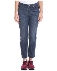 Manila Grace - Women's Blue Cotton Jeans - Lyst