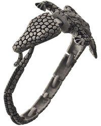 Ametallo - Coccodrillo Stainless Steel Bracelet - Lyst
