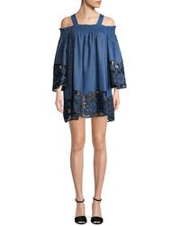 Kendall + Kylie - Kendall + Kylie Embroidered Dress - Lyst
