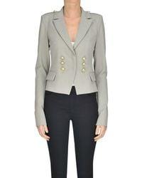 Patrizia Pepe - Women's Grey Polyester Blazer - Lyst
