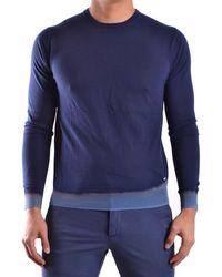 CoSTUME NATIONAL - Men's Blue Cotton Jumper - Lyst