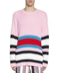 MSGM - Men's Pink Wool Sweater - Lyst