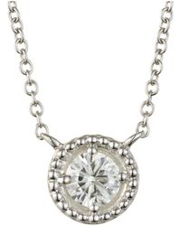 Charles & Colvard - Forever Classic Round 4.5mm Moissanite Pendant Necklace, 0.33ct Dew - Lyst