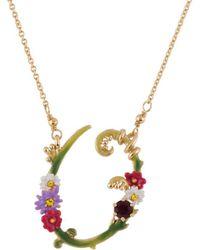 Les Nereides - Floral Letters O Necklace - Lyst