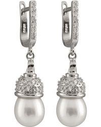 Splendid - Fancy Cz & Pearl Dangling Earrings - Lyst