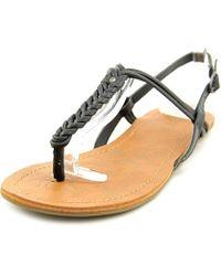 Roxy - Bhutan Open Toe Synthetic Thong Sandal - Lyst