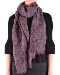 Altea - Women's Purple Wool Scarf - Lyst