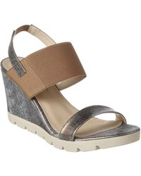 The Flexx - The Give A Lot Leather Wedge Sandal - Lyst