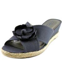 LifeStride - Life Stride Omega Women Open Toe Canvas Wedge Sandal - Lyst