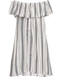 Bobeau - Rosie Off Shoulder Striped Dress Final Sale - Lyst