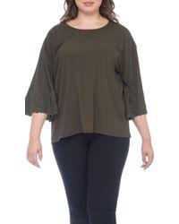 Bobeau - Elisa Plus Size Embroidered Blouse - Lyst