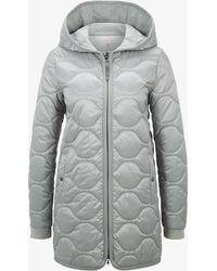 Bogner - Stefanie Quilted Coat In Silver Grey - Lyst