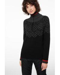 Bogner - Babette Knit Pullover In Black/anthracite - Lyst