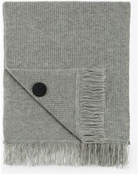 Bogner - Wool Scarf In Husky Grey - Lyst