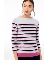 Bogner - Long-sleeve Top Jaime In Off White/blue/pink Striped - Lyst
