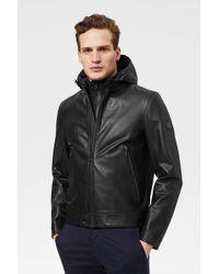 Bogner - Lucas Leather Jacket In Black - Lyst