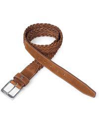 Bogner - Braided Leather Belt Clark - Lyst