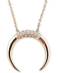 Jacquie Aiche - Partial Pave Crescent Horn Necklace - Lyst