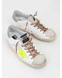 Golden Goose Deluxe Brand - Superstar White Flourescent Leopard Laces - Lyst