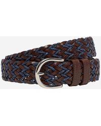 Bonobos - Leather Braided Belt - Lyst