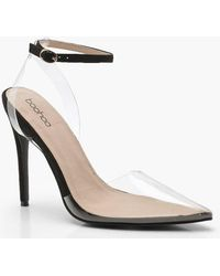 Boohoo - Clear Pointed Court Shoes - Lyst