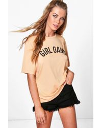 Boohoo - Girl Gang Oversized T-shirt - Lyst