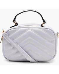 6a83e5173d80 Lyst - Boohoo Emma Stripe Faux Fur Cross Body Bag in Blue