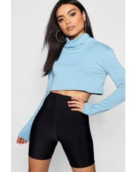 Boohoo - Slouchy Roll Neck Light Weight Sweater - Lyst