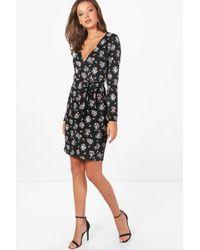 Boohoo   Tall Charlotte Floral Print Tea Dress   Lyst