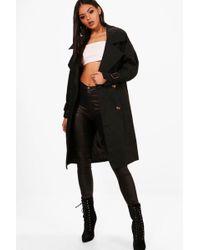 Boohoo | Sara Oversized Trench Coat | Lyst