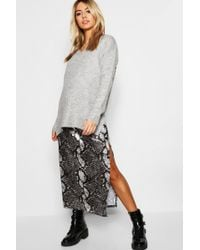 d8b1b8196 Lyst - Missguided Slouch Off Shoulder Knitted Crop Sweater Pale Blue ...