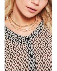 Boohoo - Multi Layered Diamante Chain Choker - Lyst