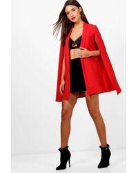 Boohoo - Karina Shawl Collar Tailored Cape - Lyst