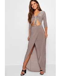 7380e4aa2d5d Lyst - Boohoo Tall Boutique Embellished Maxi Dress in Gray