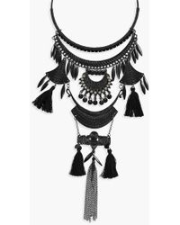 Boohoo - Lianne Statement Tassel Detail Necklace - Lyst