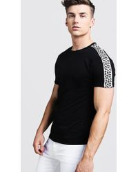 f28a5e2d8c29 Urban Outfitters Mtv Leopard Print Raglan Tee in Gray for Men - Lyst