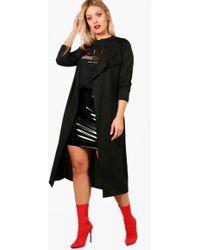 Boohoo - Plus Katie Duster Jacket - Lyst