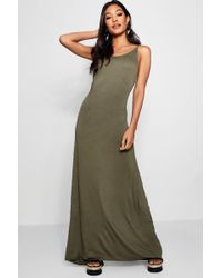 Boohoo - Strappy Low Back Maxi Dress - Lyst