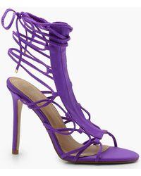 Boohoo - Cage Gladiator Sandals - Lyst