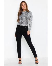 Boohoo - Petite High Waist Skinny Jeans - Lyst