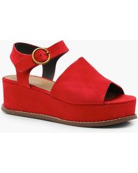 Boohoo - Two Part Flatforms - Lyst